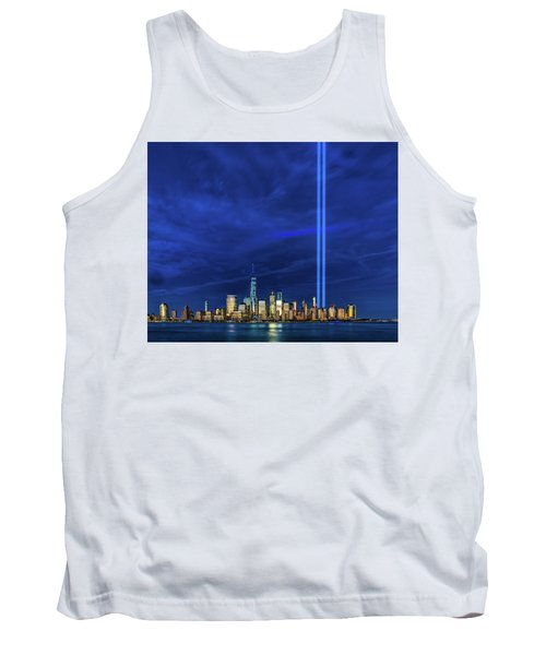 Tank Top featuring the photograph A Tribute At Dusk by Chris Lord