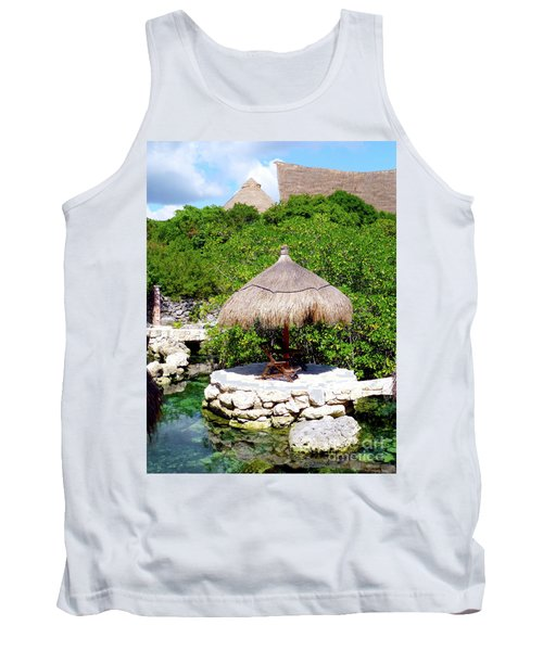 Tank Top featuring the photograph A Tropical Place To Relax by Francesca Mackenney