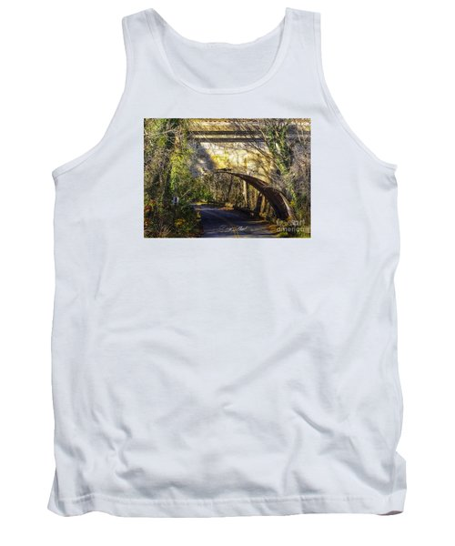 Tank Top featuring the photograph A Tunnel By The River by Melissa Messick