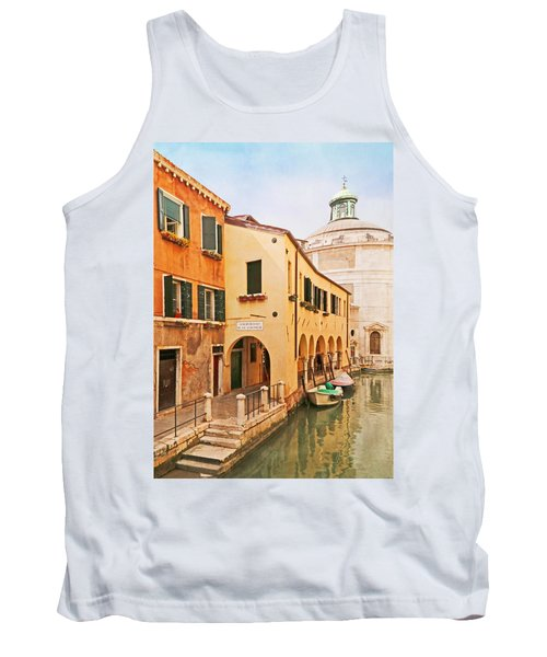 A Venetian View - Sotoportego De Le Colonete - Italy Tank Top by Brooke T Ryan
