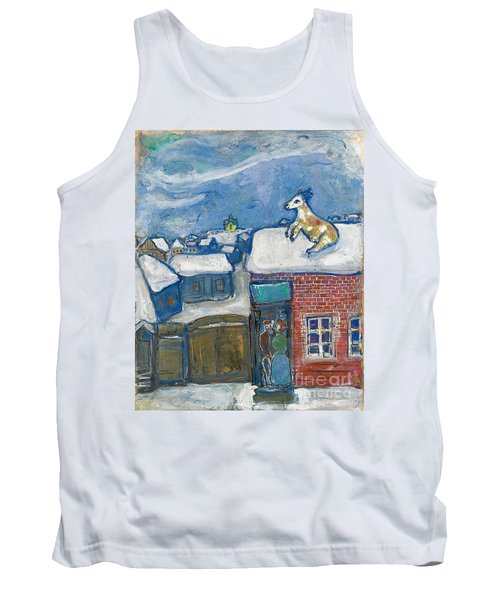 A Village In Winter Tank Top by Marc Chagall