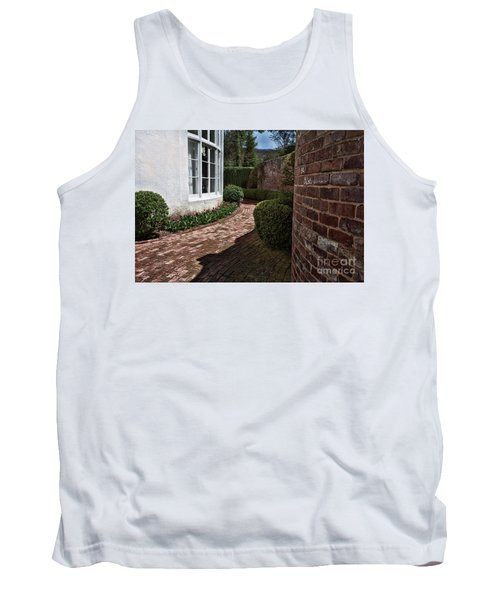 A Walk Through The Greenbrier Tank Top by Laurinda Bowling