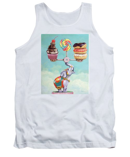 Tank Top featuring the painting A Well-balanced Diet by Linda Apple