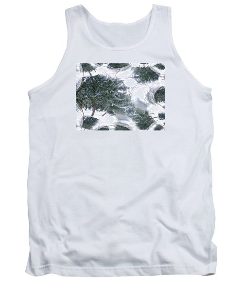 A Winter Fractal Land Tank Top