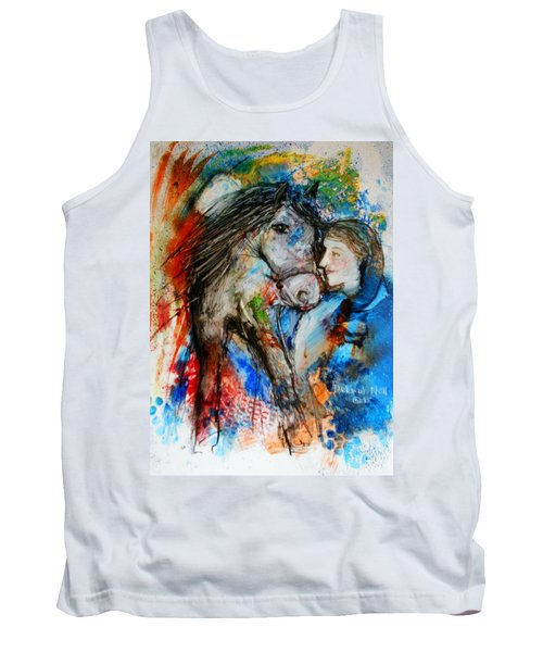 A Woman And Her Horse Tank Top
