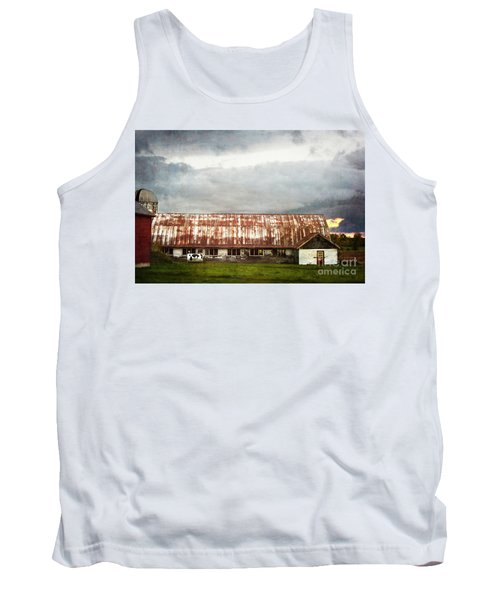 Abandoned Dairy Farm Tank Top by Judy Wolinsky