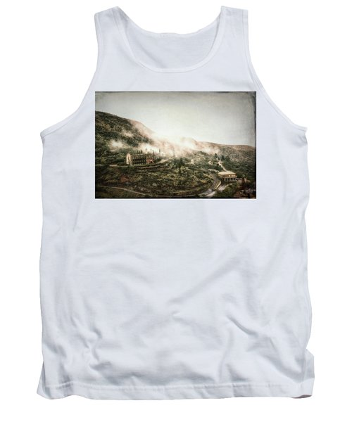 Abandoned Hotel In The Fog Tank Top