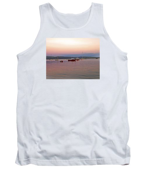 Tank Top featuring the photograph Aberdovey Moorings. by Paul Scoullar