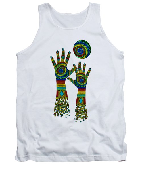 Aboriginal Hands Gold Transparent Background Tank Top