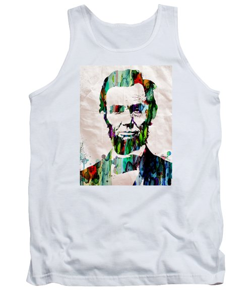 Abraham Lincoln Art Watercolor Tank Top