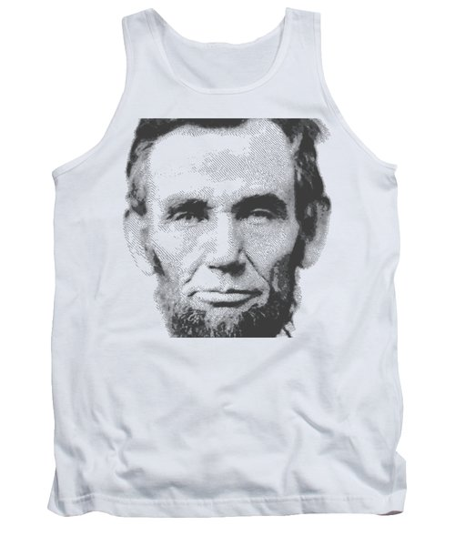 Abraham Lincoln - Parallel Hatching Tank Top