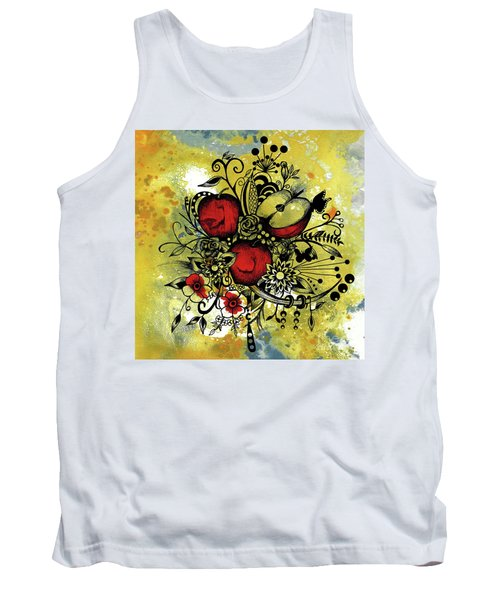 Abstract Acrylic Painting Apples II Tank Top by Saribelle Rodriguez