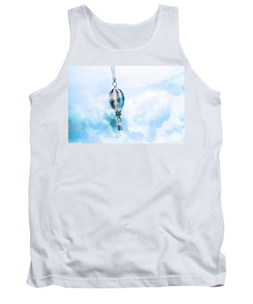 Abstract Air Baloon Hanging On Chain Tank Top