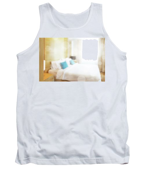 Tank Top featuring the photograph Abstract Bedroom by Atiketta Sangasaeng
