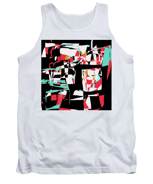 Tank Top featuring the digital art Abstract Boxes by Jessica Wright
