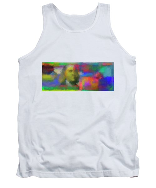 Abstract Colorized One Hundred Us Dollar Bill Abstract Colorized One Hundred Us Dollar Bill  Tank Top
