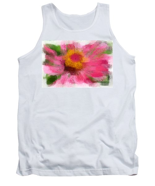 Abstract Flower Expressions Tank Top