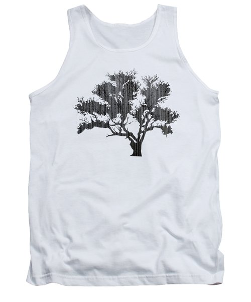 Abstract Gray Tree Tank Top