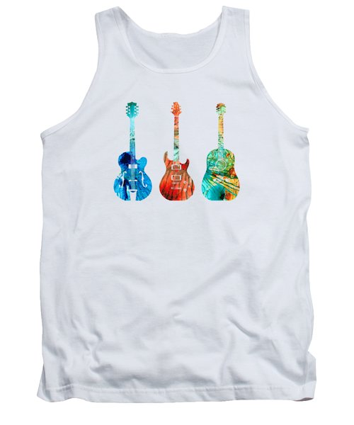 Abstract Guitars By Sharon Cummings Tank Top