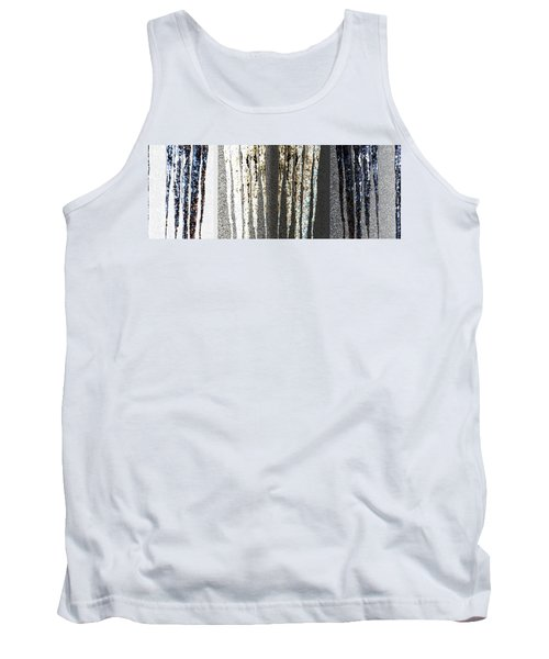 Tank Top featuring the digital art Abstract Icicles by Will Borden