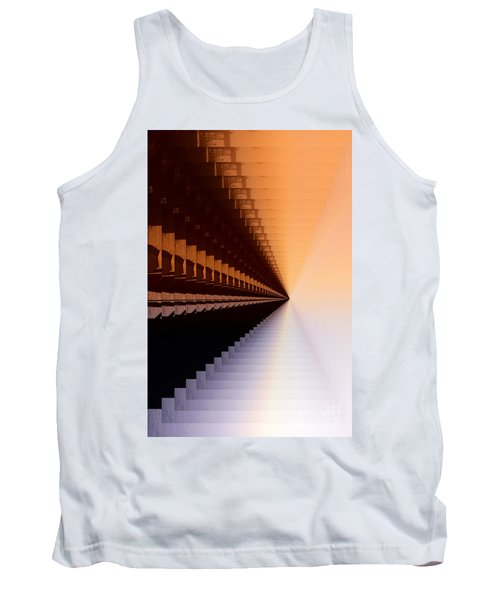 Abstract Industrial Sunrise Tank Top