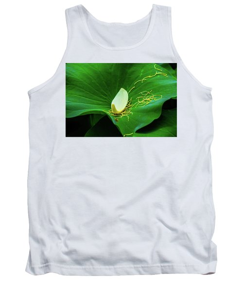 Abstract Leaves Of Green And Yellow Tank Top