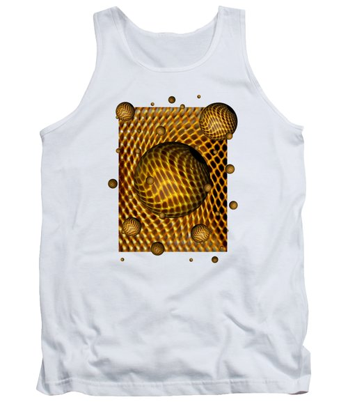 Tank Top featuring the digital art Abstract - Life Grid by Glenn McCarthy Art and Photography