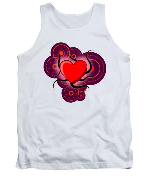Abstract Love Tank Top by Martin Capek