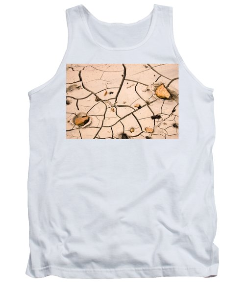 Abstract Mud Flat Pink Saturated Tank Top