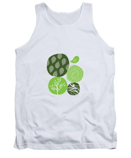Abstract Nature Green Tank Top