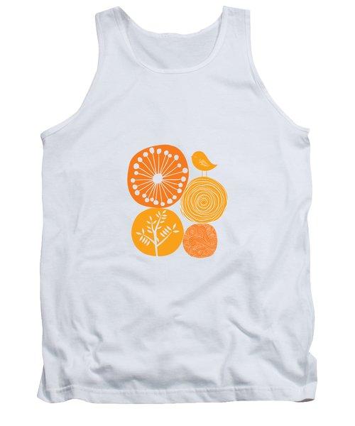 Abstract Nature Orange Tank Top