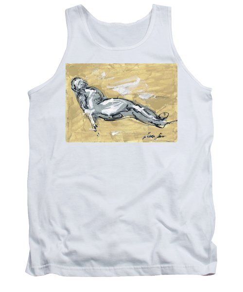 Abstract Nude Tank Top