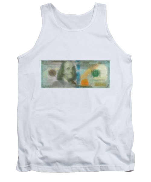 Abstract One Hundred Us Dollar Bill  Tank Top