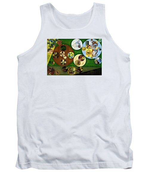 Tank Top featuring the digital art Abstract Painting - Black Forest by Vitaliy Gladkiy