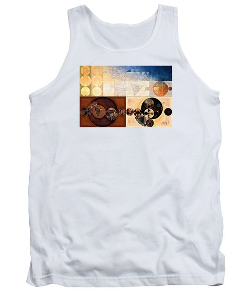Abstract Painting - Dairy Cream Tank Top