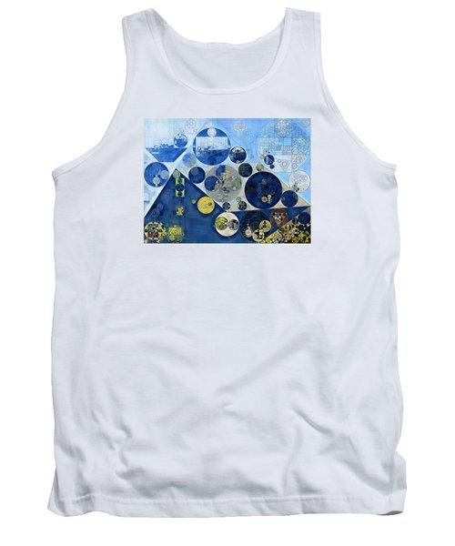 Abstract Painting - Kashmir Blue Tank Top by Vitaliy Gladkiy