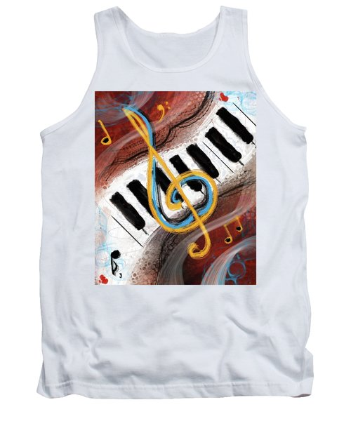 Abstract Piano Concert Tank Top