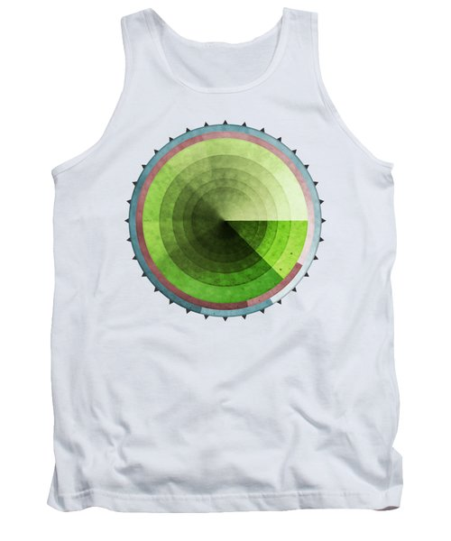 Abstract Rings Of Green Tank Top by Phil Perkins