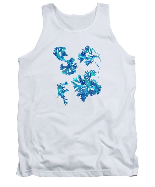 Tank Top featuring the mixed media Abstract Seaweed Art Rhodomenia Laciniata by Christina Rollo
