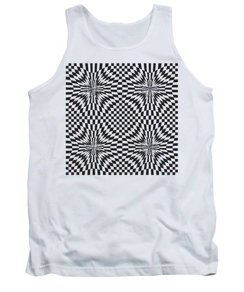 Abstract Vector Pattern Tank Top