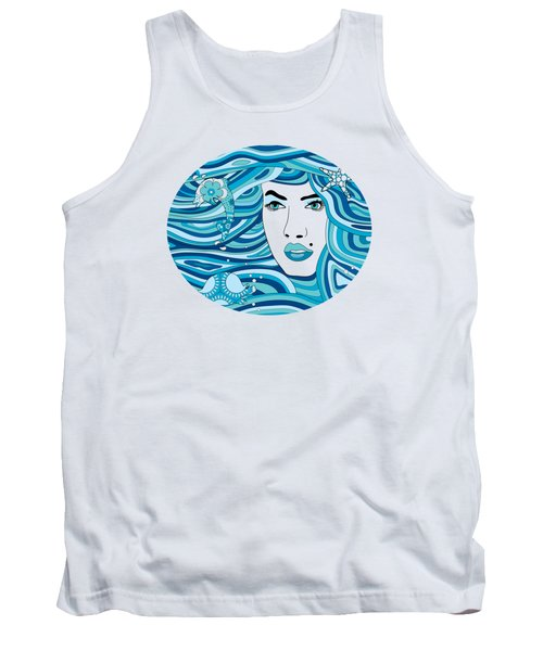 Abstract Water Element Tank Top
