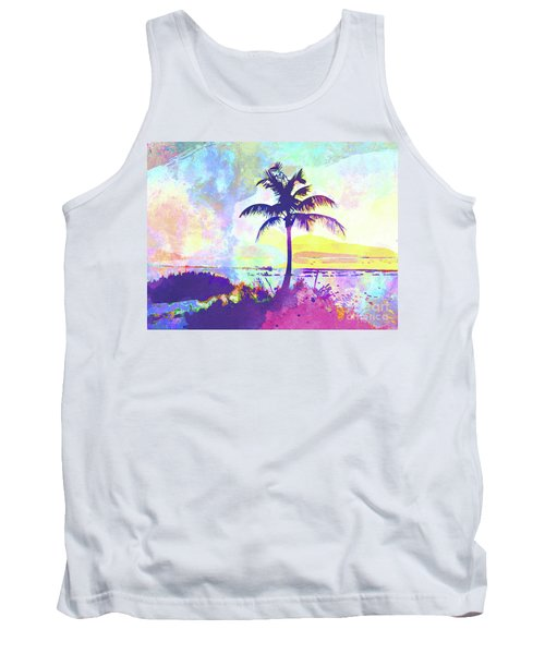 Abstract Watercolor - Beach Sunset I Tank Top