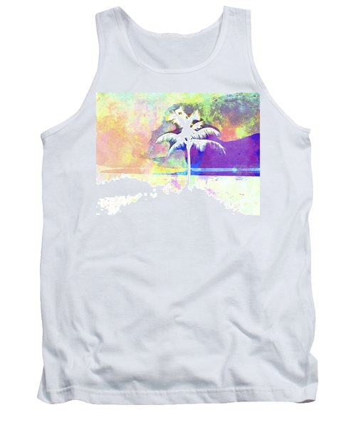 Abstract Watercolor - Beach Sunset II Tank Top