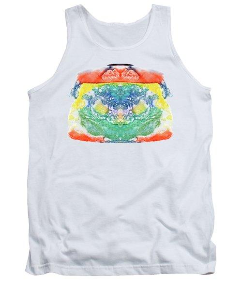 Abstract Watercolors Splatters, Splinter, Blotches, Blots And Bl Tank Top