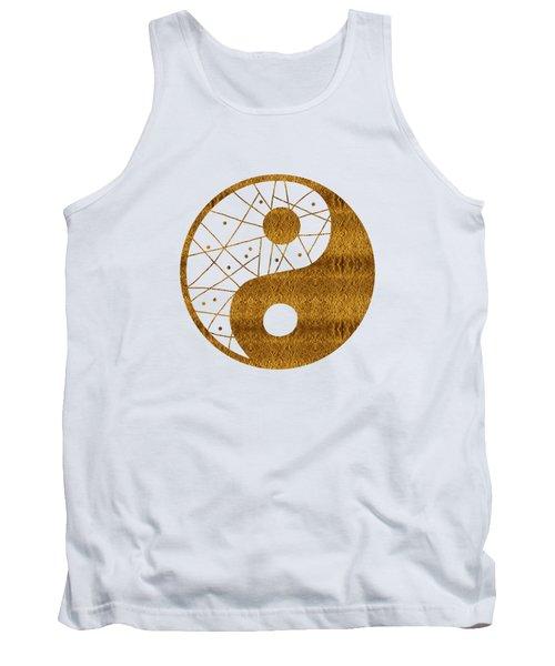 Abstract Yin And Yang Taijitu Symbol Tank Top