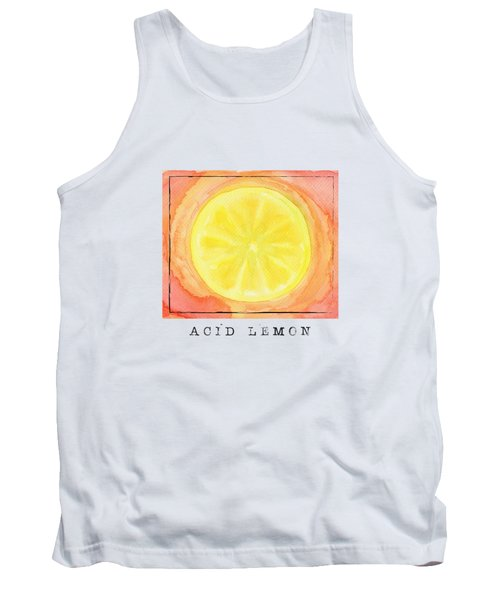 Acid Lemon Tank Top by Kathleen Wong