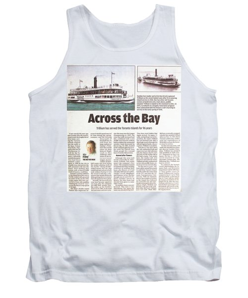 Tank Top featuring the painting Toronto Sun Article Across The Bay by Kenneth M Kirsch