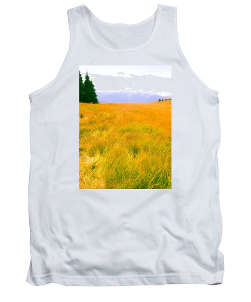 Tank Top featuring the photograph Across The Summer Meadow by Ronda Broatch