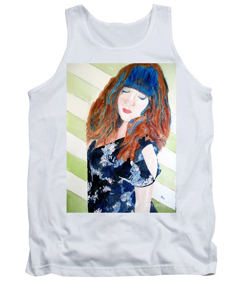 Tank Top featuring the painting Adelina by Sandy McIntire