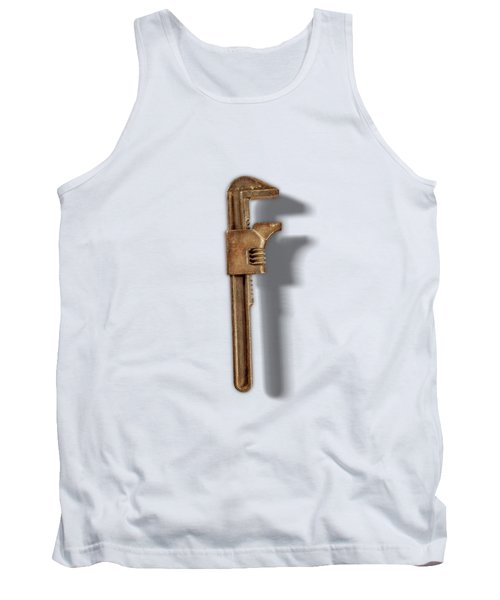 Adjustable Wrench Back On Color Paper Tank Top